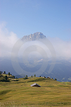 Dolomites In A Misty Morning Royalty Free Stock Photography - Image: 20646107