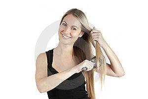 Beautiful Woman Comb Long Hairs Stock Photography - Image: 20646432