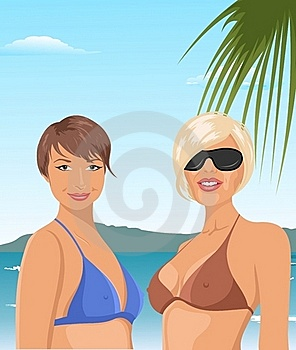 Two Girls On The Beach Royalty Free Stock Photography - Image: 20647087