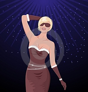 Illustration Of Sexy Christmas Dance Girl Stock Images - Image: 20647094