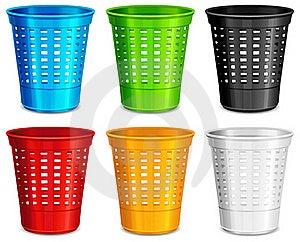 Color Plastic Basket Stock Image - Image: 20654591