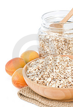 Oat In Plate Isolated On White Royalty Free Stock Photo - Image: 20654655