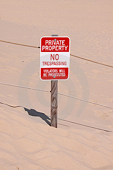 Private Property Board Royalty Free Stock Photography - Image: 20655017
