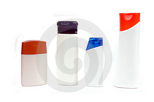 Four Plastic Containers For Bath Fixtures Stock Images - Image: 20655184