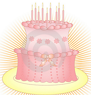 Cake With Candles Stock Photo - Image: 20656190