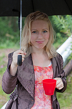 Portrait Of A Girl With An Umbrella Stock Image - Image: 20656671