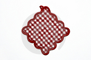 Red And White Checkered Potholder Stock Image - Image: 20663281