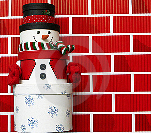 Snowman Made Of Gift Boxes Royalty Free Stock Photography - Image: 20663297