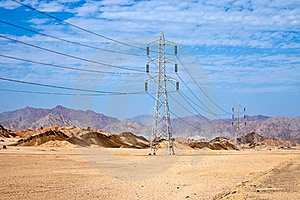 High Voltage Power Electricity Pylon Stock Photography - Image: 20664382