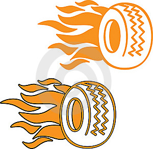 Flaming Tyre Royalty Free Stock Photography - Image: 20665107