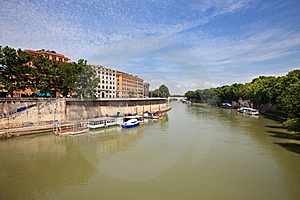 Landscape With River Tiber Royalty Free Stock Photography - Image: 20665697