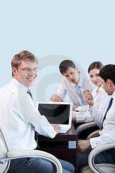 Businessman With Laptop Stock Photos - Image: 20665833