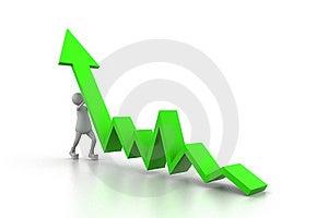 Man Climb Green Growth Arrow Stock Photography - Image: 20666582