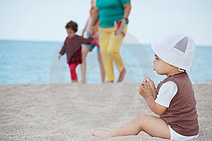 Child On Beach Stock Photography - Image: 20667332