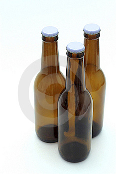 Three Empty Bottles Of Beer Royalty Free Stock Images - Image: 20671909
