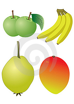 Apple, Banana, Mango, Quince Royalty Free Stock Images - Image: 20672119