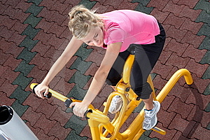 Exercising Time 2 Royalty Free Stock Images - Image: 20673599