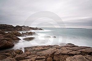 Seascape Long Exposure On Brittany Coast Stock Photography - Image: 20674572