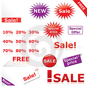 Discount Icons & Labels Royalty Free Stock Photos - Image: 20687128