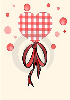 Red Heart With Beauty Bow - Vector Stock Photography - Image: 20690722