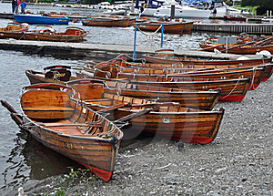 Rowing Boats For Hire Royalty Free Stock Photos - Image: 20690828