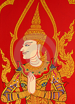 Angle In Thai Style Royalty Free Stock Image - Image: 20693096