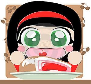 Girl With Pie Stock Photos - Image: 20693503