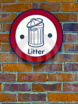 Litter Sign Stock Photography - Image: 20697342