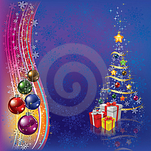 Christmas Tree With Decoration And Gifts Royalty Free Stock Photo - Image: 20697625