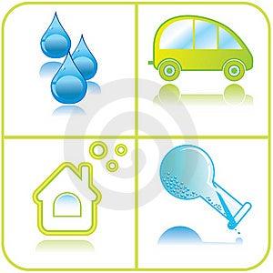 Set Of Ecological Icons Stock Photos - Image: 20699813