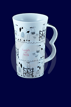Decorative Mug, With Clipping Path Royalty Free Stock Photo - Image: 2073135
