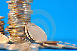 Pile Of Coins Royalty Free Stock Photo - Image: 2073755
