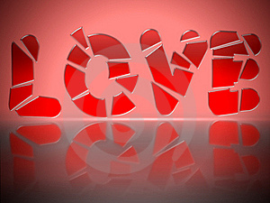 Shattered Love Stock Image - Image: 20706031
