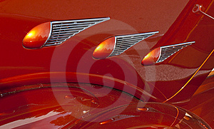 Orange Details Classic Car Stock Photo - Image: 20706050