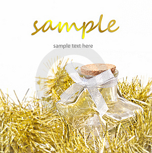 Holiday Ornament Star Bottle Royalty Free Stock Photo - Image: 20707975