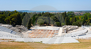 Antique Greek Theater And Ionian Sea, Sicily Stock Photography - Image: 20713662