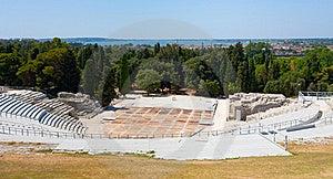 Antykwarski Grecki Greckiego Morza Sicily Teatr Fotografia Stock - Obraz: 20713662