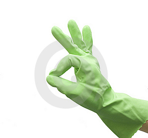 Hand Of Housewife Gesturing OK Stock Photography - Image: 20713852