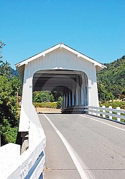 White Covered Bridge Royalty Free Stock Photography - Image: 20715507