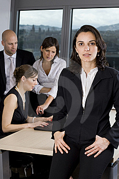 Latin Businesswoman In Office Royalty Free Stock Images - Image: 20715569