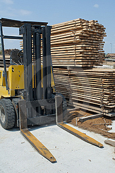 Carpentry Factory And Ordered Timber Royalty Free Stock Photography - Image: 20717867