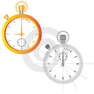 Golden Watch. Outline Stock Photography - Image: 20718542