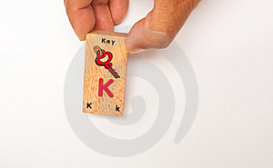 Wording K  For Kid Brain Royalty Free Stock Photos - Image: 20718708