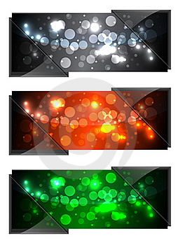Shiny Sparkling Banners Stock Image - Image: 20719451