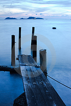 Wooden Pier And Sea In Long Exposure Stock Photo - Image: 20720130
