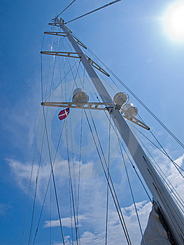 Sails And Mast Of A Modern Sail Boat Royalty Free Stock Photos - Image: 20726958