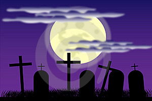 Cemetery At Night Royalty Free Stock Photography - Image: 20729507