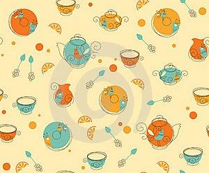 Tea_Pattern Stock Photo - Image: 20729600