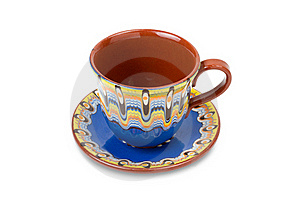 Cup And Saucer, Isolated Stock Photo - Image: 20735130