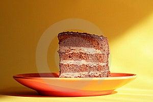 Cake On Saucer Stock Image - Image: 20735221